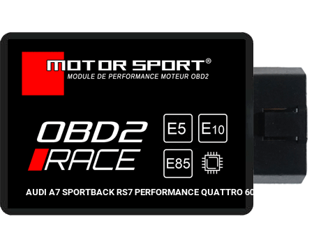 Boitier additionnel Audi A7 Sportback RS7 PERFORMANCE QUATTRO 605 - OBD2 RACE