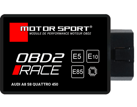 Boitier additionnel Audi A8 S8 QUATTRO 450 - OBD2 RACE