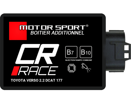 Boitier additionnel pour Toyota Verso 2.2 DCAT 177 ch 2009+ CR RACE